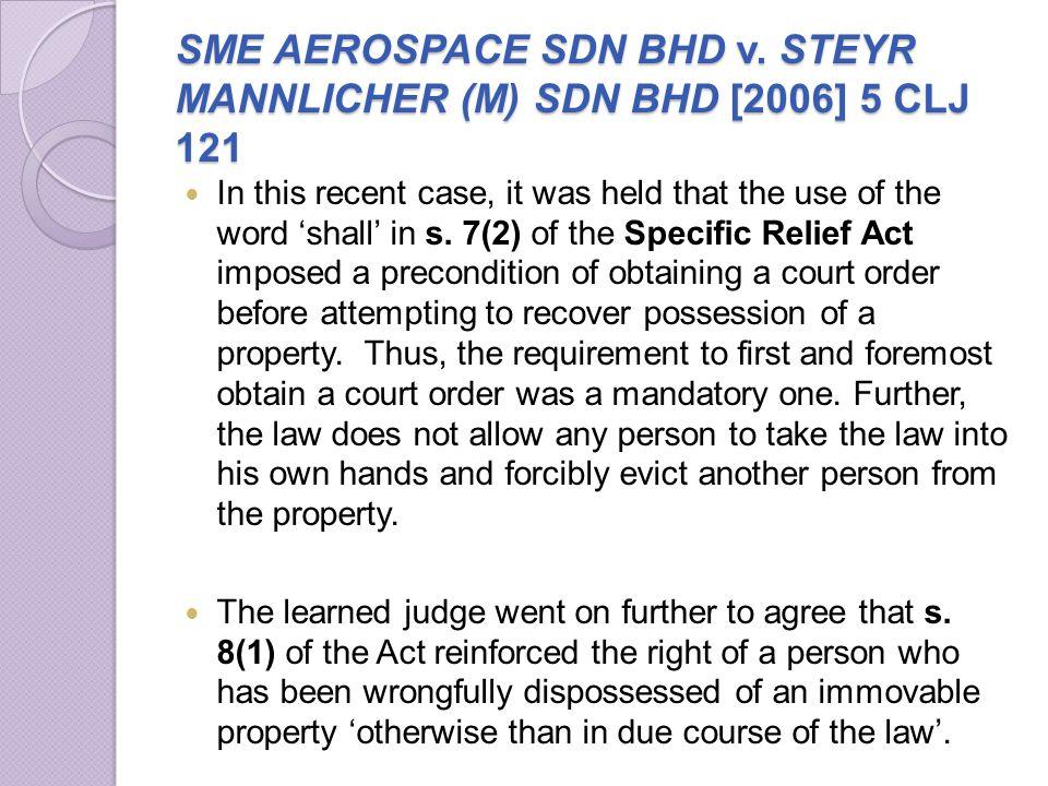 SME AEROSPACE SDN BHD v. STEYR MANNLICHER (M) SDN BHD [2006] 5 CLJ 121